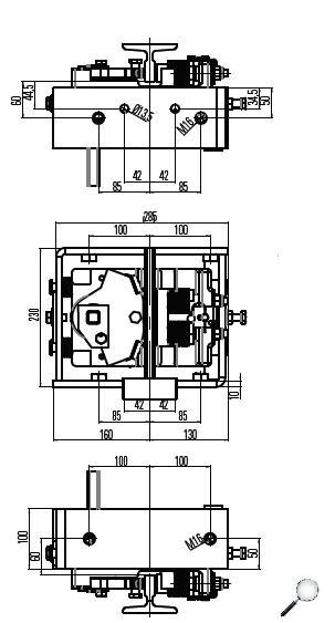 Bremsfangvorrichtung, ab- undwärtswirkend, EN81-20/50, Aufzugsrichtlinie