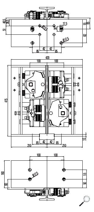 Bremsfangvorrichtung, abwärtswirkend, EN81-20/50, Aufzugsrichtlinie