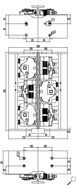 Bremsfangvorrichtung, ab- und aufwärtswirkend, Tandem, EN81-20/50, Aufzugsrichtlinie