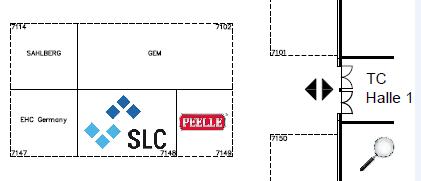 Ausschnitt des Hallenplans der Halle 7 auf der Interlift 2019 / Halle 7 / Standnummer 7148