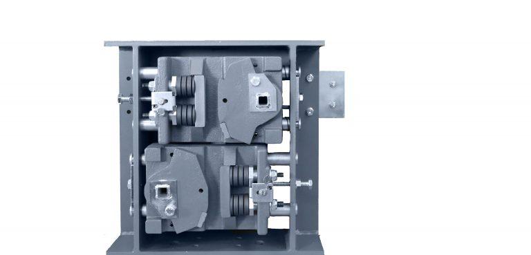 Grundkörper der BF1D-1/BF1D-1 montiert im Aussengehäuse, EN81-20/50, abwärts wirkend