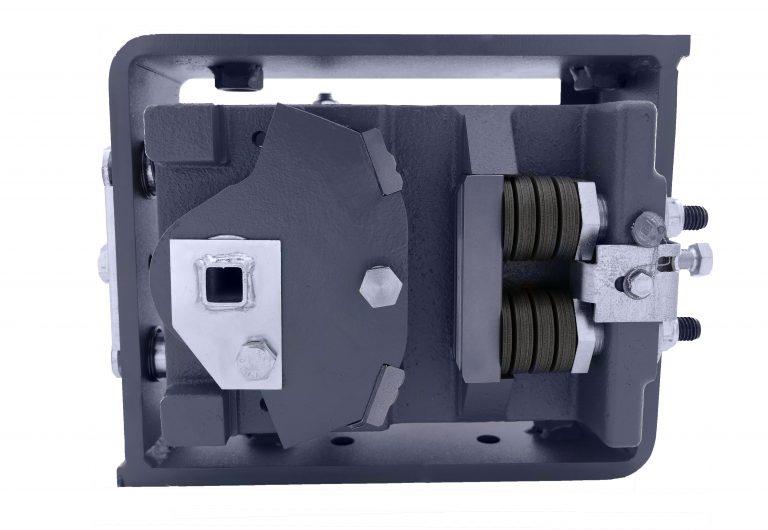 Grundkörper der BF2D-1 montiert im Aussengehäuse, EN81-20/50, ab- und aufwärts wirkend