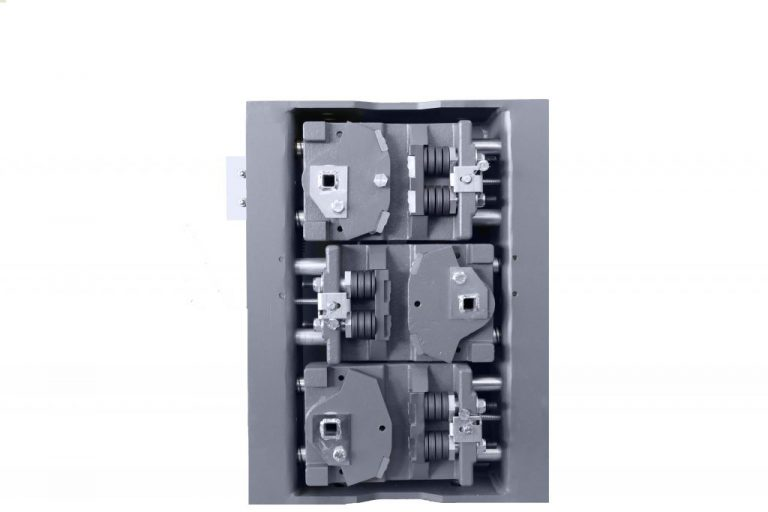 Grundkörper der BF2D-2/BF2D-2/BF1D-2 (Triple) montiert im Aussengehäuse, EN81-20/50, ab- und aufwärts wirkend