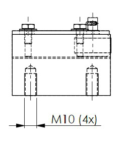 Skizze des Grundkörpers der Fangvorrichtung RF0012 mit Zeichnungsmaßen